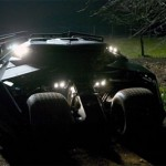 The Tumbler, as the new Batmobile is referred to, can hide in the darkness of the night