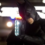 Batman takes aim with one of his newest weapons