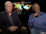 Michael Caine and Morgan Freeman The Dark Knight Rises Interview
